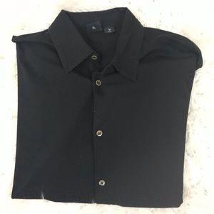 Hugo Boss ribbed short sleeve button up shirt
